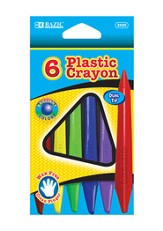 6 Color Dual Tip Triangle Plastic Crayons