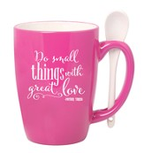 Do Small Things With Great Love Mug with Spoon