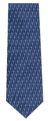 Curved Cross (Blue) - Silk Tie