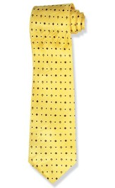 Diamond Cross, Silk Tie, Yellow