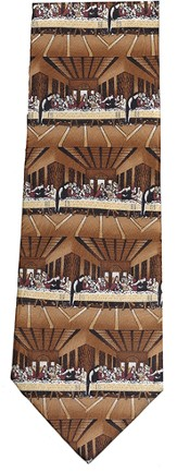 Last Supper Silk Tie; Brown