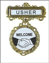 Usher Badge, Fancy Round