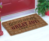 Good News, Great Joy, Luke 2:10, Coir Bristle Exterior Rug