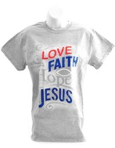 Love Jesus Shirt, Gray, Large