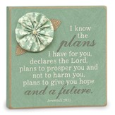 I Know the Plans, Plaque