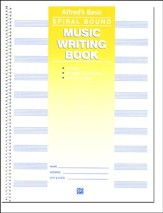 Alfred's Basic Spiral-Bound Music Writing Book, 10 Staves, 64 pages