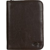 Compact Bible Cover with Ichthus, Brown