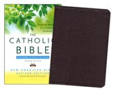 The New American Bible, Catholic Study, Personal,   Bonded Leather, Burgundy, Second Edition