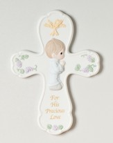 Precious Moments, First Communion Wall Cross, Boy