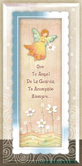 Guardian Angel Framed Plaque, Spanish