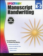 Spectrum Manuscript Handwriting, Grades K-2 (2015 Edition)
