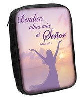 Bless the Lord Bible Cover, Purple, Spanish, Large