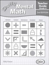Daily Mental Math Grade 4 Teacher's Guide