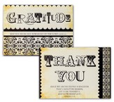 Thank You Gratitude Blank Note Cards, Box of 12