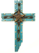 Western Star Wall Cross, Turquoise