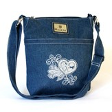 Grace Heart Denim Mini Handbag
