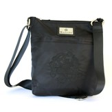 Hope Cross Mini Handbag, Black and Grey