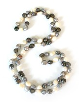 Gates of Praise Pearl Necklace, Black and White