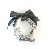 Gates of Praise Pearl Bracelets, Black and White