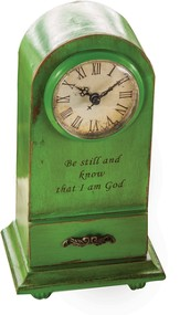 Be Still and Know That I Am God Tabletop Clock