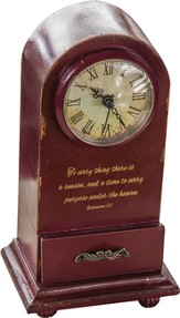To Everything There Is A Season Tabletop Clock
