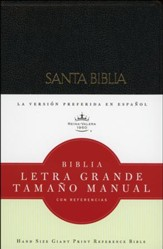 Biblia RVR 1960 Letra Gde. Tam. Manual, Piel Imit. Negra  (RVR 1960 Hand-Sized Giant Print Bible, Imit. Leather Black)