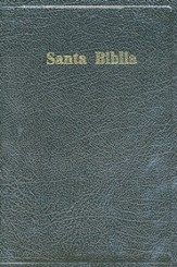 Biblia RVR 1960 Letra Gde. Tam. Manual, Piel Fab. Negra  (RVR 1960 Hand-Sized Giant Print Bible, Bond. Leather Black)