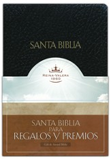 Biblia de Premios y Regalos RVR 1960, Piel Imit., Negro  (RVR 1960 Gift & Award Bible, Imitation Leather, Black) - Slightly Imperfect