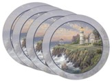 Thomas Kinkade Victorian Light Coasters, Set of 4
