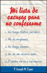 Mi Lista de Excusas para no Confesarme  (Confession Excuse List)