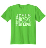 Jesus The Way The Truth The Life, Shirt, Lime, 3X-Large