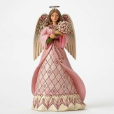 Jim Shore, Breast Cancer Angel Figurine, Faith, Hope and Courage