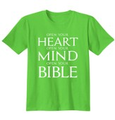 Heart Mind Bible, Shirt, Lime, Medium