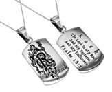 Rock Girls Dog Tag, 18 Chain (Psalm 18:2)