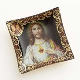 Sacred Heart of Jesus Fine Art Glass Plate