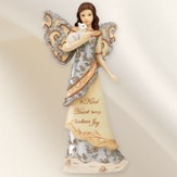 A Kind Heart Angel with Kitten Figurine