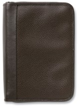 Pebble Textured Organizer Bible Cover, Brown