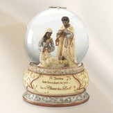 Ebony Holy Family Waterglobe