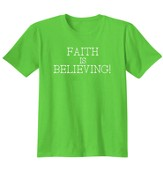 Faith Is Believing, Shirt, Lime, Large
