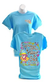 Expresso Your Heart to God, Cherished Girl Style Shirt, Blue, Medium