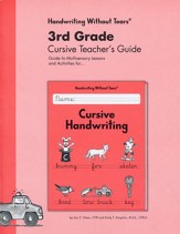 Cursive Handwriting Teacher's Guide Grade 3, Updated Edition