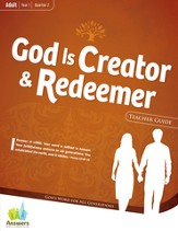 Answers Bible Curriculum: God is Creator & Redeemer  Adult Teacher Guide with DVD-ROM Year 1 Quarter 2
