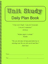 Unit Study Daily Plan Book