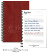 Faith Notes Spiritual Growth Notebook-Burgundy