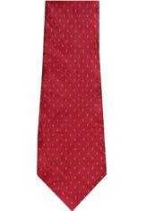 Tiny Crosses Silk Tie, Red