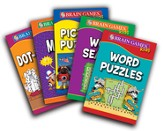 Brain Games Kids Puzzle Books - 5-book set