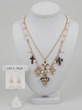 Row Cross Gold Set, 18
