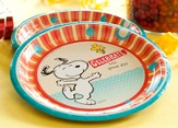 Peanuts Paper Dinner Plates, Pack of 8