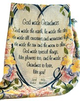 Personalized, God Made Grandmas Tapestry Throw