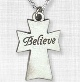 Believe Cross Pendant
